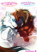 Off-White_Forbidden love_ by FleshCreature