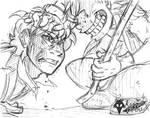 KAISER vs GELLS - Sketch by KarasuTenguProyectos