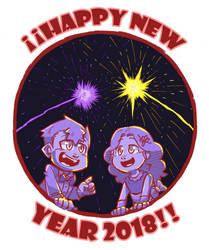 Happy new year 2018! by KarasuTenguProyectos