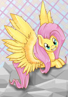 Fluttershy -squee- by SugarcubeCake
