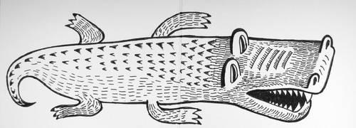 Crocodile card by pagone