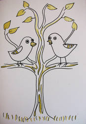 Birds in a tree by pagone