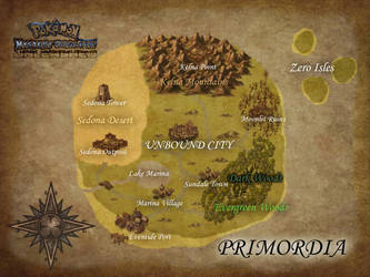 [PMD-UL] Map of Primordia (Labelled) by MegaMixStudios