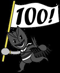 100 Watchers! by MegaMixStudios