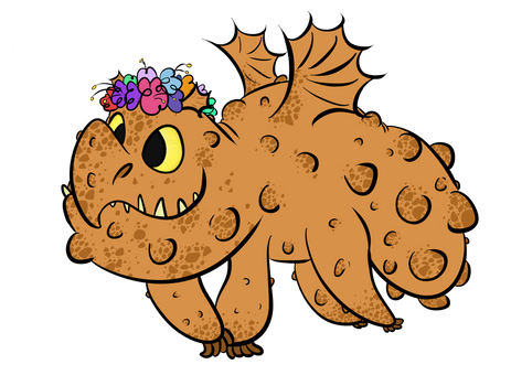 Meatlug With A Flower Crown By Ruby The Dragon On Deviantart