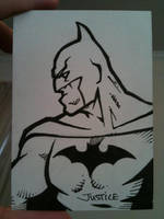 Batman Sketchcard by Guerrillasuit