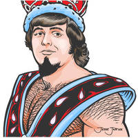 Wrestler: Jerry 'The King' Lawler by Guerrillasuit