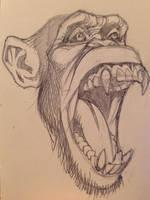 Monkey sketch by Guerrillasuit