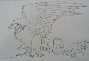 Halfway Decent Reshiram Concept Sketch by FantasyFanatic365