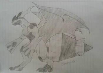 Halfway Decent Zekrom Concept Sketch by FantasyFanatic365
