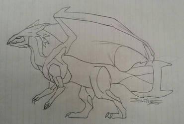 Kyurem Sketch by FantasyFanatic365