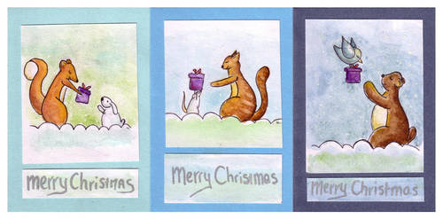 Christmas card set 2 by BlackCloudConnected