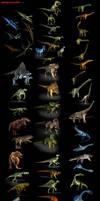 3D-CG  54 Dinosaur collection by RyanZ720