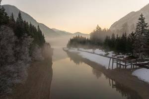 misty morning by acoresjo88