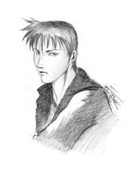 Random sketch - Kyoya Iida (Jiraishin) by StriderCT