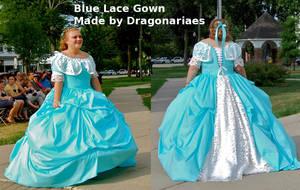 Blue Lace Ballgown by dragonariaes