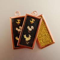 Chocobo Framed Pendant style keychain by dragonariaes