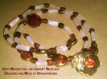 Gift Exchange Garnet Necklace by dragonariaes