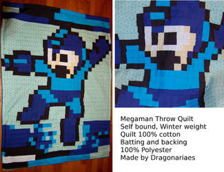 Megaman throw blanket by dragonariaes