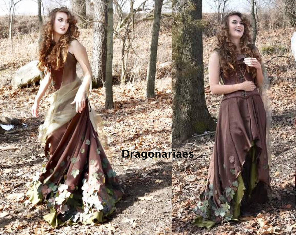Simple Elven feast gown by dragonariaes
