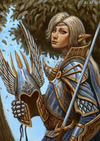 High Elven Swordmaster by Samo94