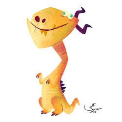 Yellow Dragon by jfsouzatoons
