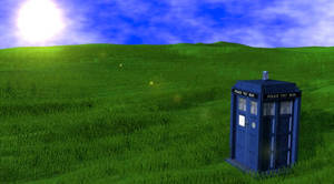 Tardis in Grassland by TheRPGPlayer