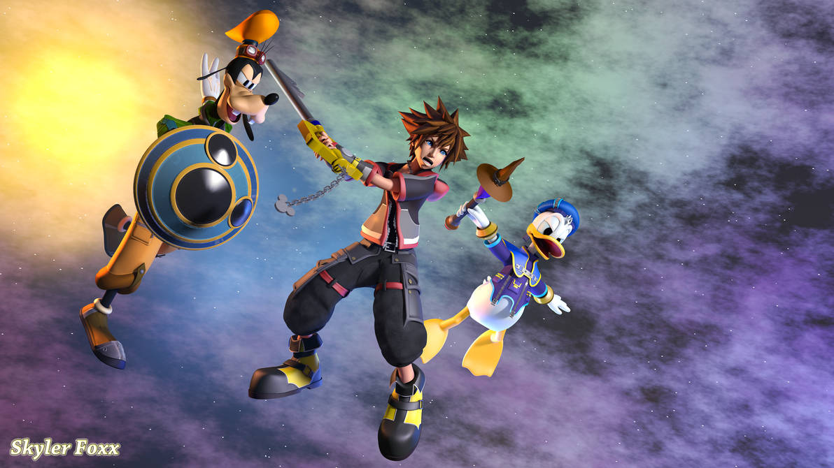SORA! DONALD! GOOFY! by TheRPGPlayer