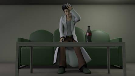 Okabe Rintarou - Strange headache by TheRPGPlayer