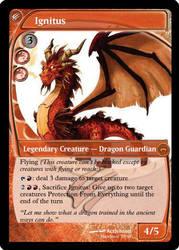 Ignitus MTG Card by Mawbane