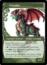 Terrador MTG Card by Mawbane