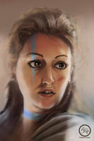Viking girl by tranenlarm