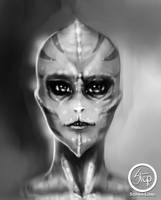 Alien girl by tranenlarm