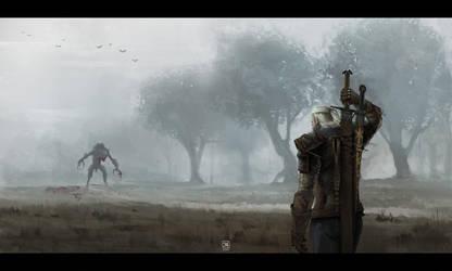 Hunt in fog by tranenlarm