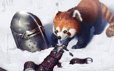 When a red panda meets war... by tranenlarm