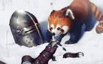 When a red panda meets war... by tranenlarm