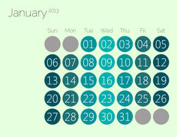 Simplistic Calender Idea V2 by manomow