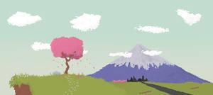 Japanese Landscape Pixel-Art by manomow