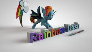 My Little Pony FIM 3D Rainbow Dash Wallpaper by jayjaybirdsnest
