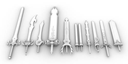 Rave Master 10 Powers Swords by Maxram0
