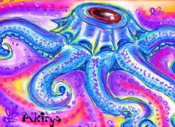 dreamlike octopus by Akirys