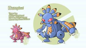 Buzzploud (Bug Type Exploud) by grimarionette