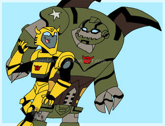 Bumblebee and Bulkhead by Amandaxter