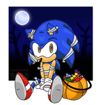 Halloween Sonic by Amandaxter