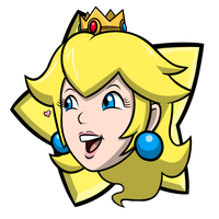 Mario Party - Princess Peach Party Star by EnterMEUN