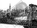 Williamsburg Bridge and Manhatten Skyline by DragonPress