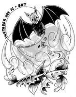 Inktober Day 14 - Bat by DragonPress