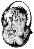 Inktober Day 15 - Amulet by DragonPress