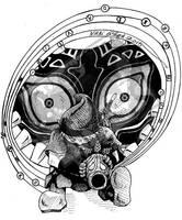 Inktober Day 18 - Masks by DragonPress
