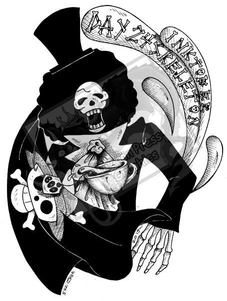Inktober Day 24 - Skeleton by DragonPress